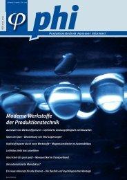 phi Ausgabe 2/2006 - Produktionstechnik Hannover informiert