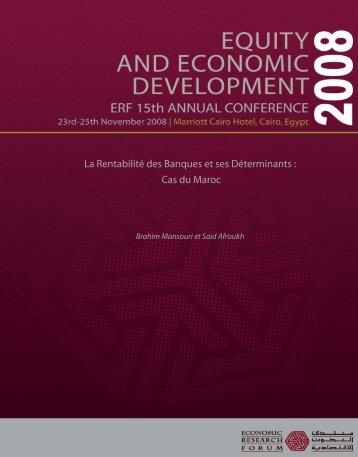 Cas du Maroc - Economic Research Forum