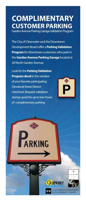 Merchant Parking Validation Program - City of Clearwater