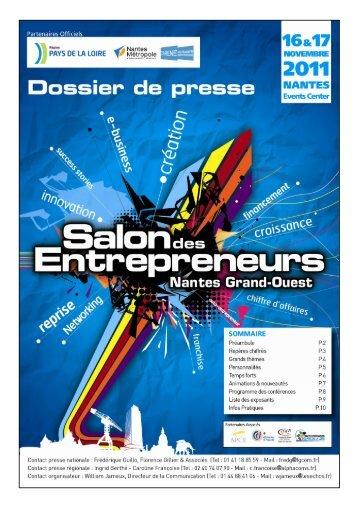 Dossier de presse - SDE Nantes 2011 - Salon des Entrepreneurs