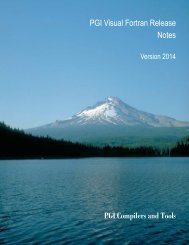 PGI Visual Fortran® Release Notes - The Portland Group