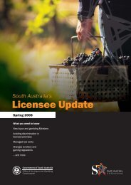 Licensee Update Spring 2008 - Office of the Liquor and Gambling ...