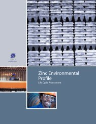Zinc Environmental Profile - Life Cycle Assessment - International ...