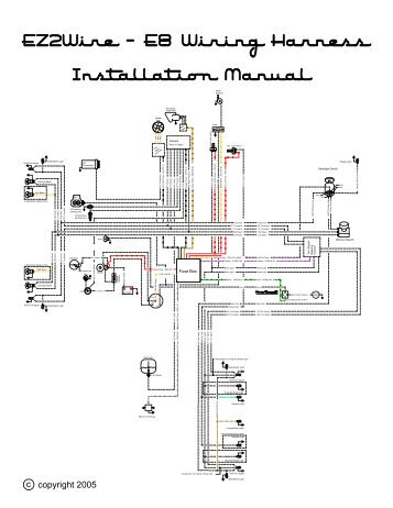 Ez2wire Wiring Diagrams in addition Best Street Rod Wiring Harness besides Ron Francis Wiring Diagrams in addition Jeep Wrangler Wiring Harness as well Painless Wiring 5 Pole Fuel Pump Relay Diagram. on painless wiring harness install video