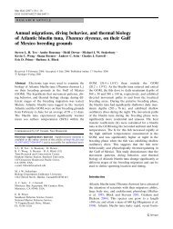 Annual migrations, diving behavior, and thermal biology of Atlantic ...