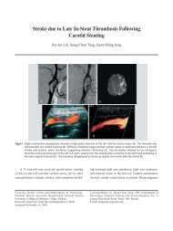 Stroke due to Late In-Stent Thrombosis Following ... - Vol.22 No.1