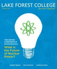 Spectrum Magazine - Lake Forest College - Chicago's National ...