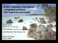 El Niño-Southern Oscillation and global warming: new data from old ...