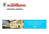 Piano Esecutivo di Gestione 2013 - Comune di Scandiano