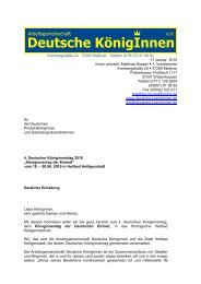 Download Einladung, PDF, 103 kB - Deutsche Königinnen e.V.