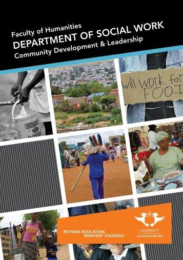 DEPARTMENT OF SOCIAL WORK - University of Johannesburg