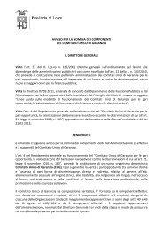 Avviso per la nomina dei componenti del Comitato Unico di Garanzia