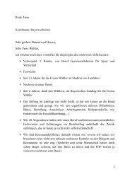 Rede Tann Kernthema: Bayern erhalten Sehr ... - Freie Wähler Bayern