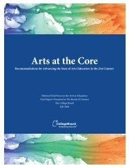 Arts at the Core - College Board Advocacy & Policy Center