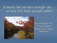 It seems like we have enough rain…. so why isn't there enough water?