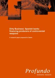 Dirty Business: Spanish banks financing producers of ... - BankTrack