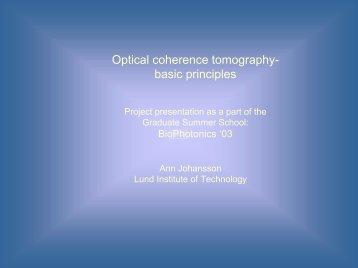 Optical coherence tomography - basic principles