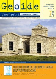 luglio 2008 - Collegio dei Geometri della provincia di Sassari