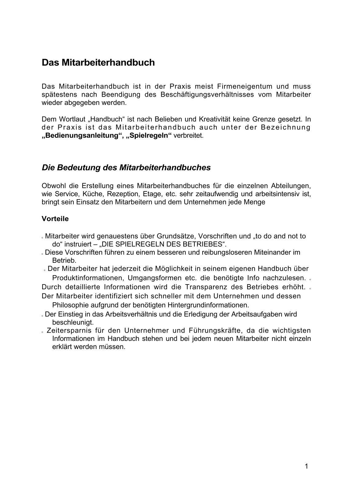 Fein Mitarbeiter Handbuch Vorlage Frei Bilder - Ideen fortsetzen ...