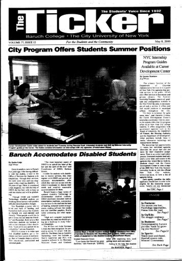 ram- Offers Students Summer Positions - The Ticker - CUNY