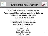 Energieforum Merkendorf - Energieagentur Nordbayern