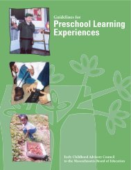 Guidelines for Preschool Learning Experiences