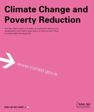 Climate Change and Poverty Reduction - Irish Aid