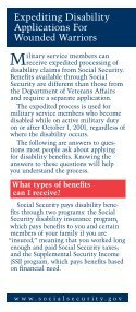 SSDI Application for Wounded Warriors - Page 2
