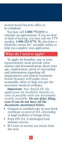 SSDI Application for Wounded Warriors - Page 5