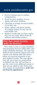 SSDI Application for Wounded Warriors - Page 6