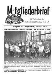 Ausgabe 255 - September / Oktober 2014