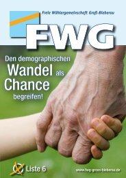 Den demographischen begreifen! - FWG Groß-Bieberau