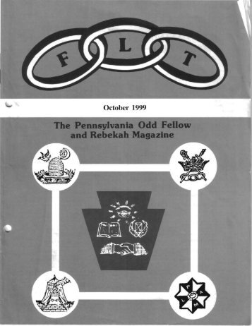 Oct - Grand Lodge of Pennsylvania, Independent Order of Odd Fellows