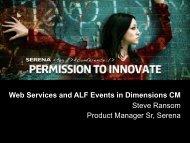 ALF Events - Serena Software