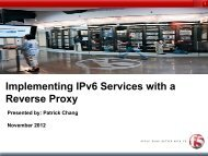 Implementing IPv6 Services with a Reverse Proxy - gogoNET LIVE!
