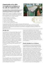 Organizando en las calles: Un estudio de ... - Inclusive Cities