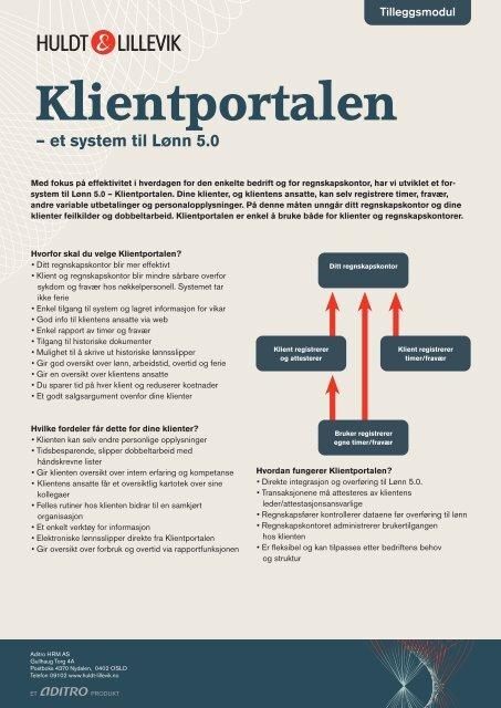 Klientportalen – et system til Lønn 5.0 - Proplan AS