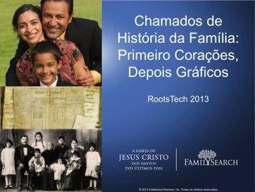 Chamados de História da Família: Primeiro Corações, Depois Gráficos