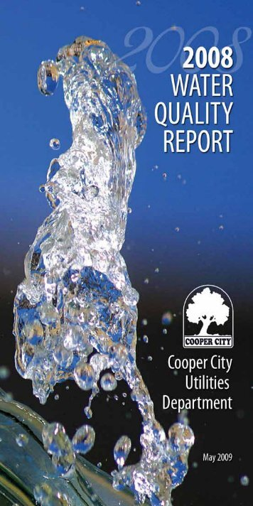 2008 Water Quality Report - Cooper City Utilities Department
