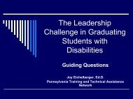 The Leadership Challenge in Graduating Students with Disabilities