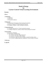 Model of Design for Learner-Centred Virtual Learning Environments