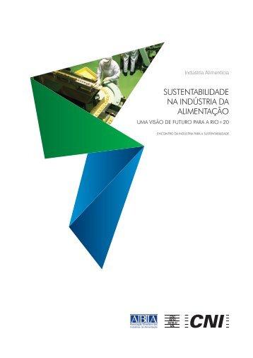 sUsteNtabilidade Na iNdústria da alimeNtação: Uma visão de - CNI