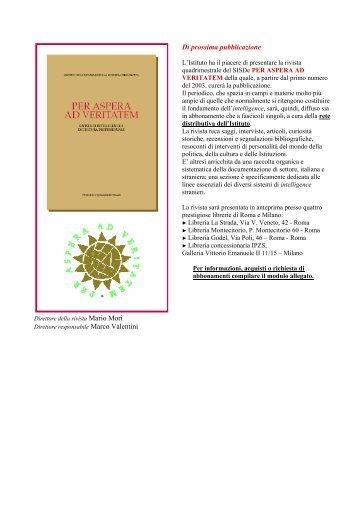 Di prossima pubblicazione - Istituto Poligrafico e Zecca dello Stato
