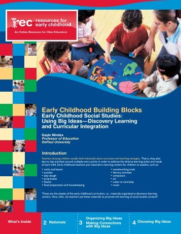 Early Childhood Social Studies - Resources for Early Childhood