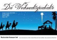Samstag 13. Dezember 2008, 17.00 Uhr Ref. Kirche, Obfelden ...