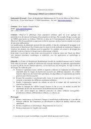Proposition de sujet de thèse - Centre de Morphologie ...