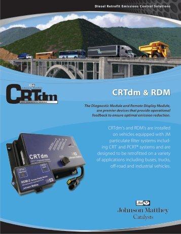 + CRT dm Diagnostic Module data sheet - Johnson Matthey ...