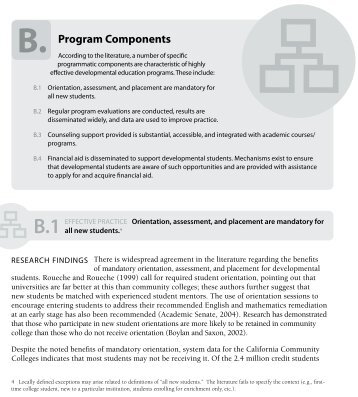 Full content of the Program Components - Basic Skills Initiative