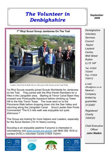 Volunteer September 2009 - Denbighshire Voluntary Services Council