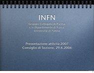 Presentazione del Gruppo Collegato (file PDF) - INFN Gruppo ...